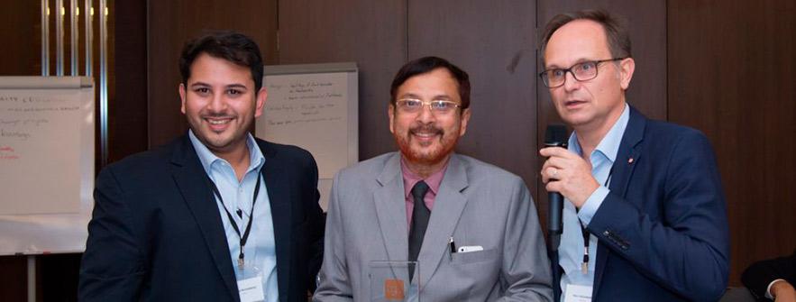 Rameez Muhammad, Koya Kunhamad y Marc Desjardins