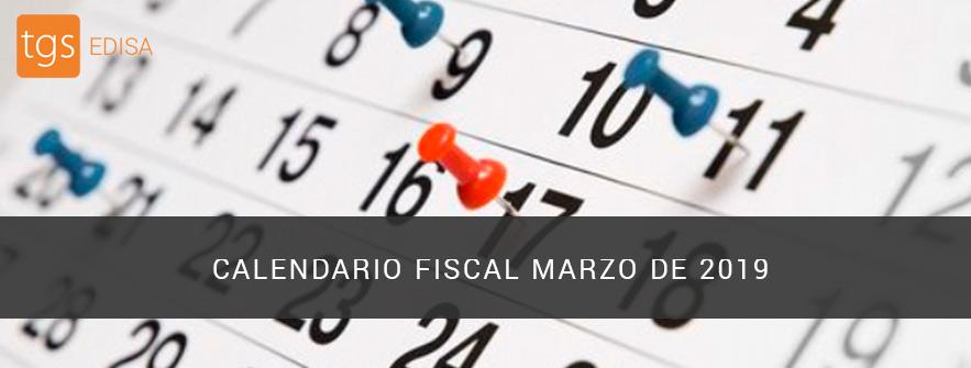 calendario fiscal marzo 2019